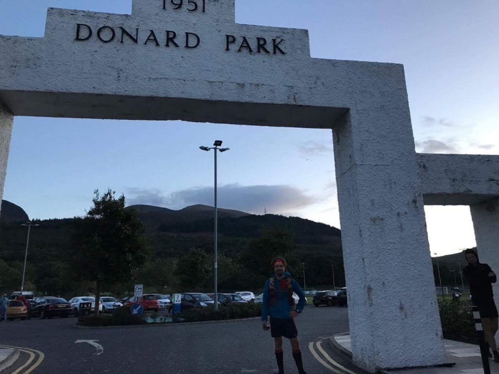 Finishing at the Donard Park arch.